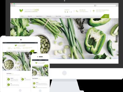 绿色食品公司响应式网站